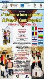 6° ENCUENTRO DE DANCES Y CANTOS POPULARES del 31 de julio al 5 de agosto de 2006