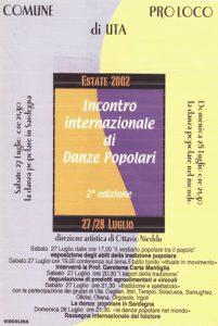 2° INCONTRO DI DANZE E CANTI POPOLARI dal 27 al 28 Luglio 2002
