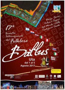 BALLUS – 17° INCONTRO INTERNAZIONALE DEL FOLKLORE dall' 1 al 5 Agosto 2017
